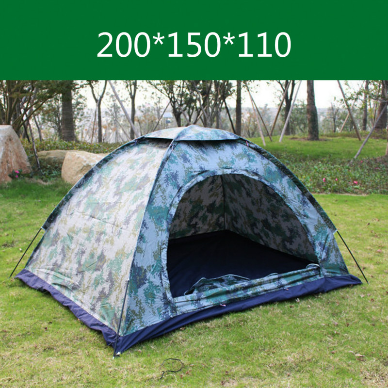 200*150*110 2 People Single-layer Camouflage Tent Outdoor Camping Rainproof UV Tent Army Green Camo Digital Camo Freeshipping high quality outdoor 2 person camping tent double layer aluminum rod ultralight tent with snow skirt oneroad windsnow 2 plus