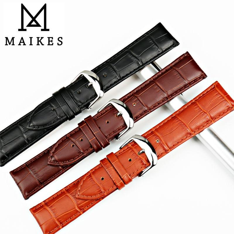 MAIKES Nuevo reloj pulsera cinturón negro correas de reloj correa de - Accesorios para relojes - foto 3