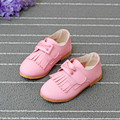 2016 New Spring Children Shoes Girls Shoes Princess Baby Tassel Shoe White Sneakers Fashion Girls PU Leather Shoes Kids Heels