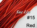 10pcs 3mmx1.5mm Red Flat Faux Suede Velvet Leather Cord -1M/pcs NCS27-15