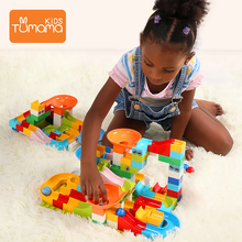Tumama 52pcs Marble Race Run Maze Ball Track Building Blocks Funnel Slide Big Size Bricks Block