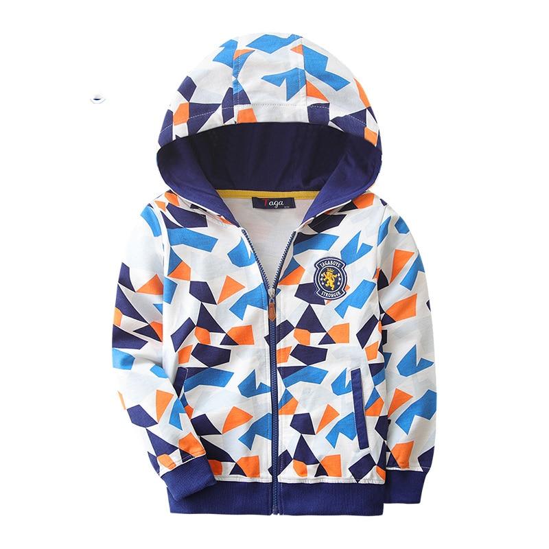 18 Colors Hooded Boys Jackets Spring Autumn 2017 New Zipper Casual Print Children Boy Coat Cotton Comfortable Boys Clothes QX96