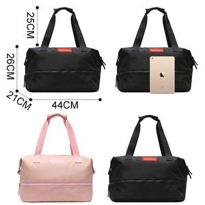 Image 3 - Sports Gym Fitness Dry Wet Separation Yoga Bag Travel Handbags For Shoes Women the Shoulder Sac De Sport Luggage Duffle XA965WD