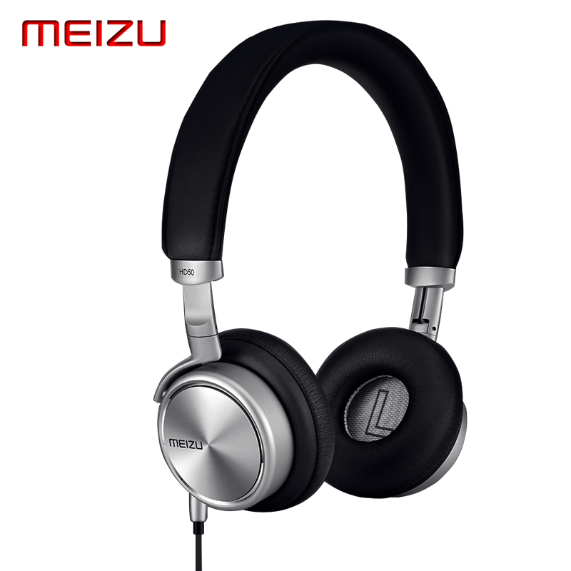 Original Meizu HD50 HD 50 Headphone HIFI Stereo Metal earphone wired Headset With Microphone For Meizu MX5/MX4/Mx4 Pro Samsung