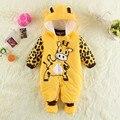 2014 Nueva Alta calidad del invierno del bebé ropa de bebé caliente otoño e invierno monos del bebé outwear la ropa del bebé pijamas