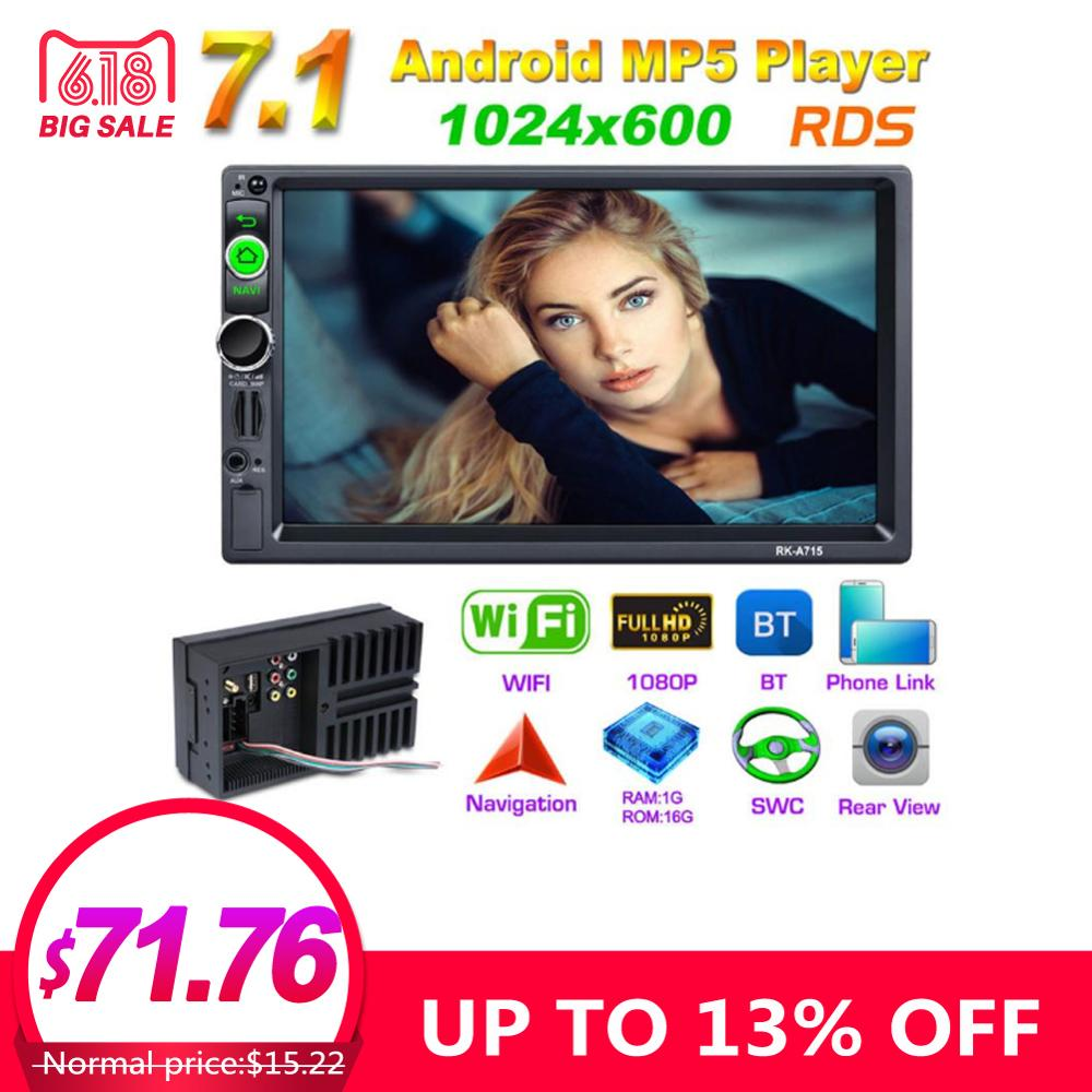 DC12V Full HD 1080P 7-inch 2DIN QUAD-core Android 7.1 Car Multimedia Player GPS Navigator Steering Wheel Control FM/AM/RDS RadioDC12V Full HD 1080P 7-inch 2DIN QUAD-core Android 7.1 Car Multimedia Player GPS Navigator Steering Wheel Control FM/AM/RDS Radio