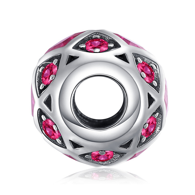 Created Red Ruby Hexagon Charm
