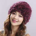 Women Hat Winter & Fall Beanies Knitted Hats For Woman Rabbit Fur Cap Autumn And Winter Ladies Female Fashion Skullies#H9005