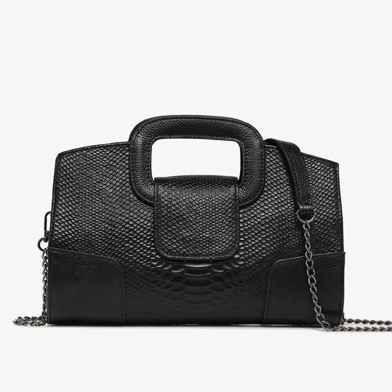 bb7e212151ba Натуральная кожа сумки для женщин Посланник сумки на ремне женские сумки со  змеиным узором дизайнер сумка