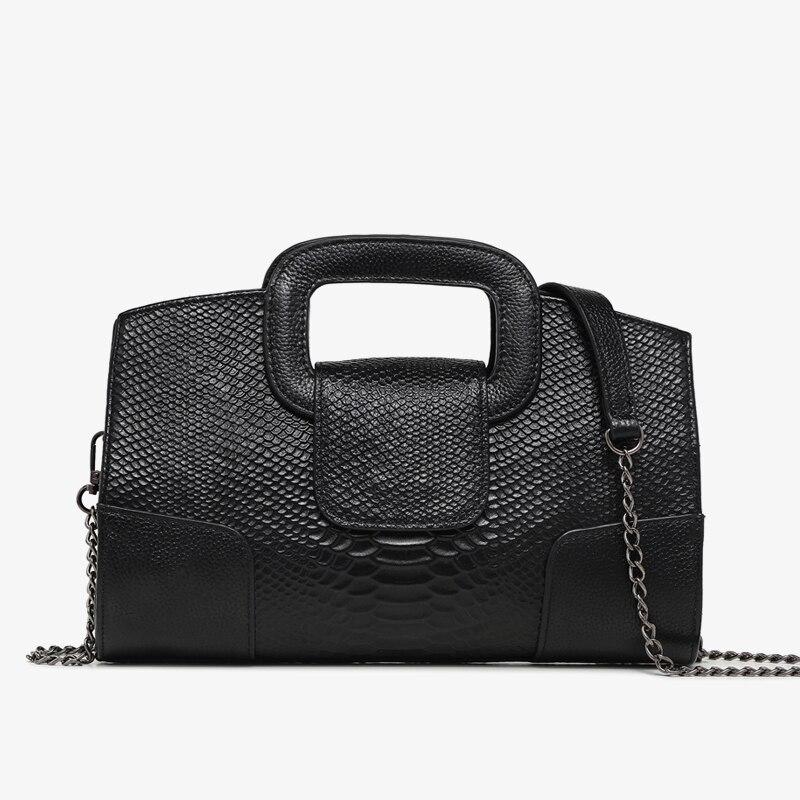 Натуральная кожа сумки для женщин Посланник сумки на ремне женские сумки со змеиным узором дизайнер сумка высокого качества