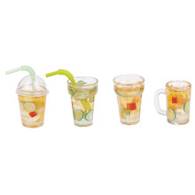 1Pcs Mini Resin Fruit Tea Cup Simulation Miniature Drinks Model Toy Doll Home Decoration 1/12 Dollhouse Accessories(China)