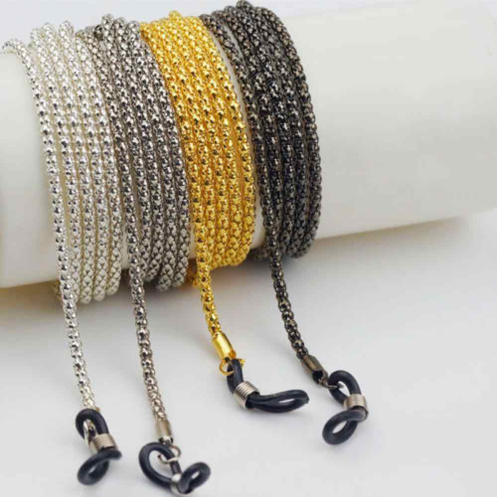 Mode Chic femmes or argent lunettes de soleil chaînes lunettes de soleil lecture perles lunettes chaîne lunettes cordon titulaire cou sangle corde