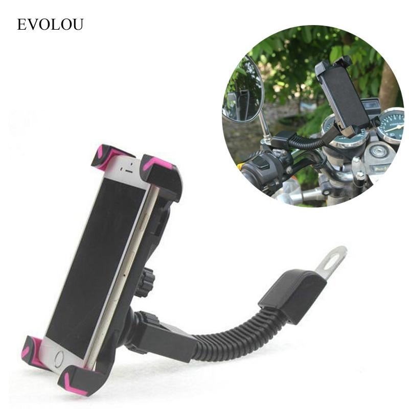 Universal Motorcykel Hållare Bakifrån Spegel Telefon Hållare - Reservdelar och tillbehör för mobiltelefoner - Foto 2