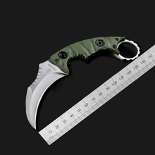 Defense Claw Knife D2 Steel Camping Jungle Knives Paw Knife Outdoor Survival Hunting knife High Quality