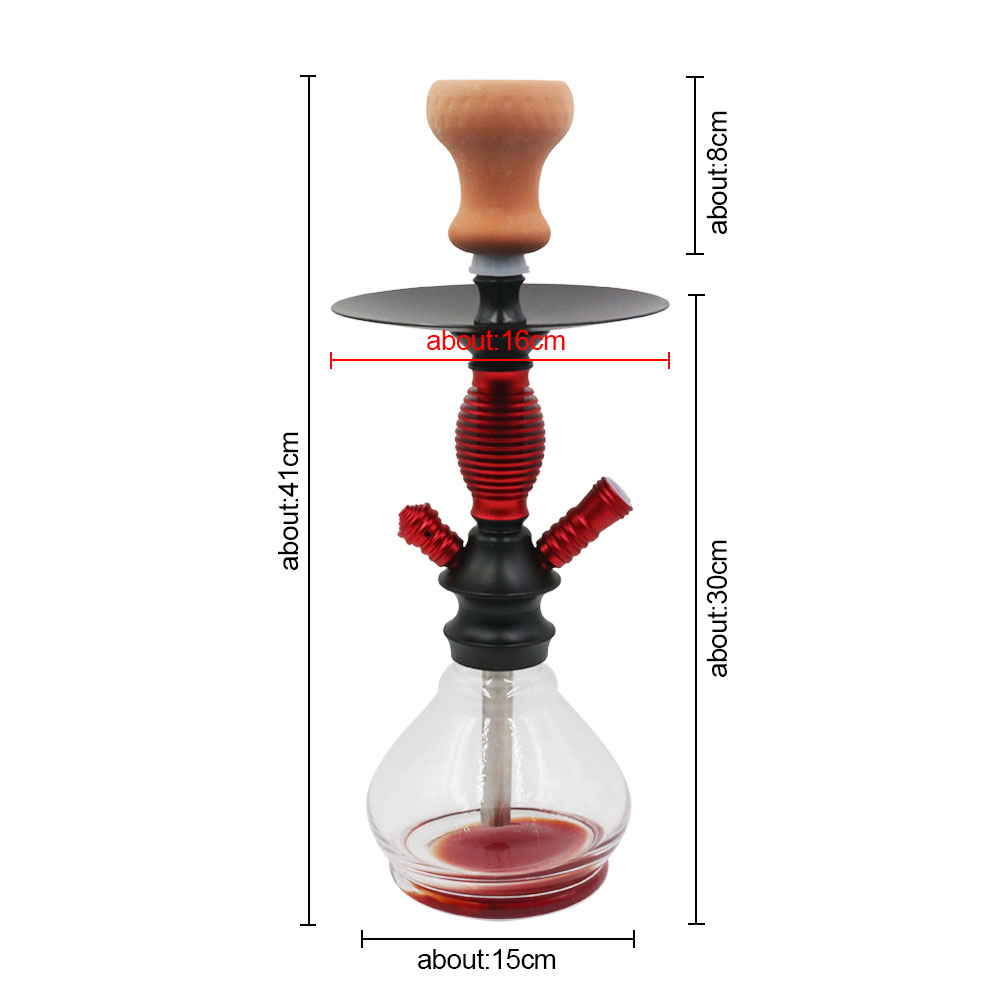 New Design Small Size Glass Shisha Set with Ceramic Hookah Bowl Silicone Hose Metal Charcoal Tongs Accessories 3 Colors in Shisha Pipes Accessories from Home Garden
