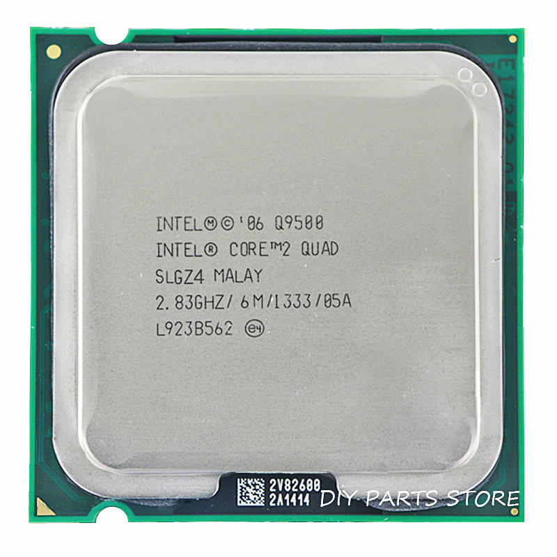 Процессорный процессор Intel Core 2 Quad Q9500 с разъемом LGA 775, 2,8 ГГц / 6 М / 1333 ГГц