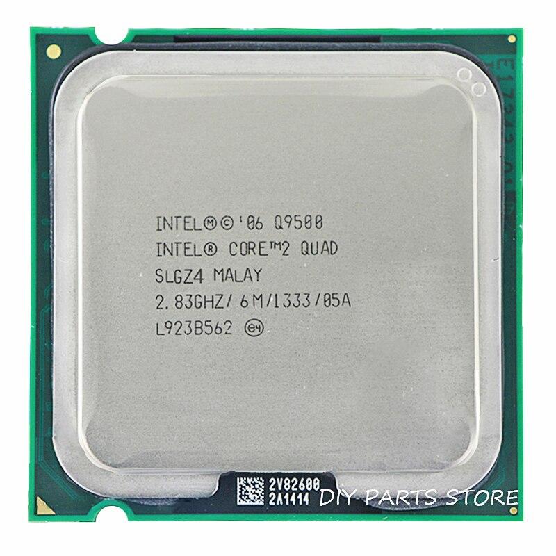 INTEL Core 2 Quad Q9500 Socket LGA 775 CPU procesador 2,8 Ghz/6 M/1333 GHz