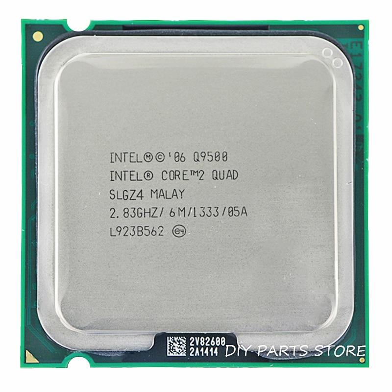 Intel core 2 Quad Q9500 gniazdo LGA 775 procesor cpu 2.8 Ghz/6 M/1333 GHz