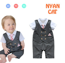 Free Shipping 3pcs/lot Baby Boy's Formal Romper