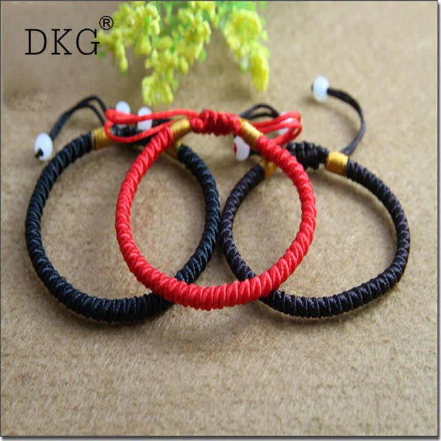 3f777431e9 Buddhist Love Lucky Charm Tibetan Bracelets   Bangles for Women Men  Handmade Knots Rope Budda Bracelet