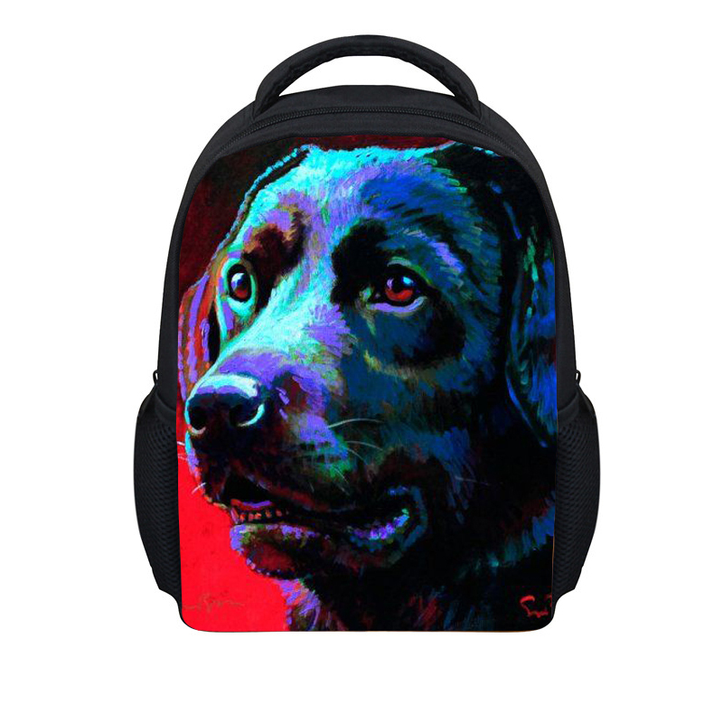 FORUDESIGNS Kids 12 Inch Schoolbag,Animal Dog Small Mini Children School Bag,Girls Boys 3D Cute BookBag,kindergarten School Bags