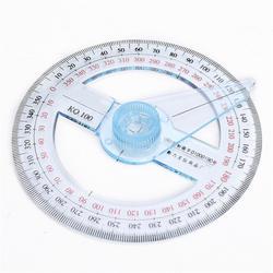 Новые Портативный диаметр 10 см пластик 360 градусов указатель линейка транспортира Угол Finder кулисой для школы офисные принадлежности