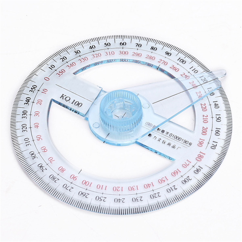 Plastic 360 Degree Protractor Circle Template Measuring Ruler Hollow Circle Shan