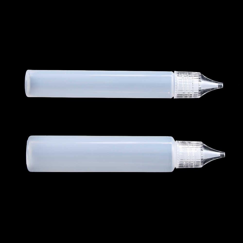 2/5 個新再利用プラスチック糊アプリケータ針スクイズボトル紙 DIY スクラップブッキング紙プラスチックボトルクラフトツール