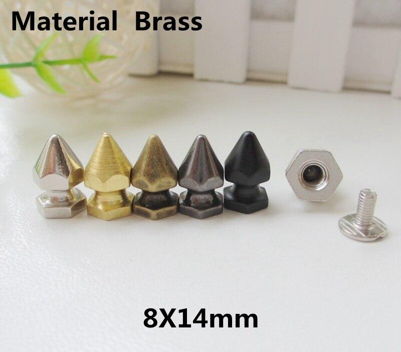 10mm Pyramid Square Stud Spike Screw Spot Rivet Head Button Leathercraft Bag Cap