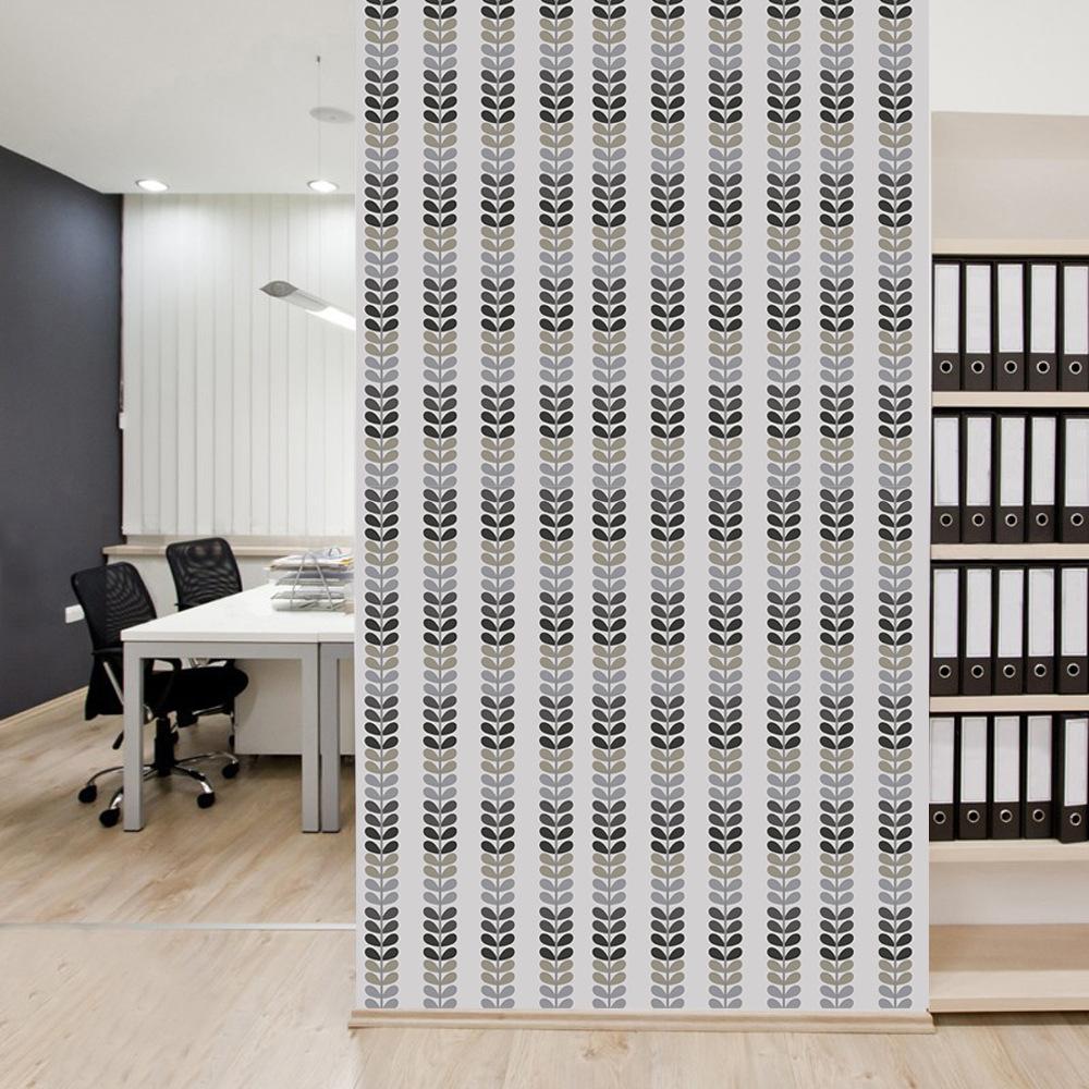 Elegante Grau Sämlinge Muster Wandaufkleber Wohnzimmer Schlafzimmer Tür  Schrank Dekoration Wasserdicht Selbstklebende Tapete(China (