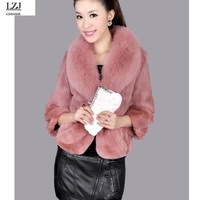 LZJ New Fashion! 2017 fur coat imitation rabbit fur artificial fox fur coat fur coat Rex rabbit hair shawl wholesale Special off