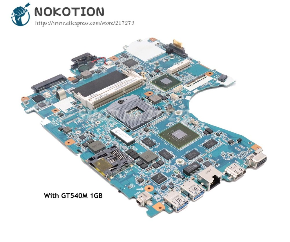 NOKOTION For Sony Vaio VPCF23JFX VPCF23 Laptop Motherboard 1P-0113J03-8011 MBX-243 MAIN BOARD HM65 DDR3 GT540M 1GB цена