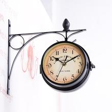 Double Sided Bracket Clock Retro Horological