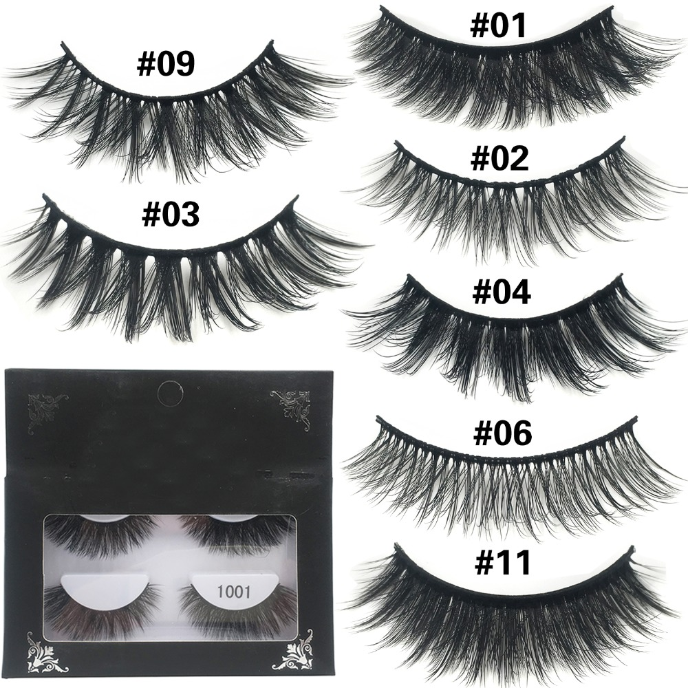 cb77283b254 YAQIMEIER 10 Styles False Eyelashes Lightweight Wispy Thick Natural Lashes  Make Up Handmade Mink 3d Lashes Wholesale
