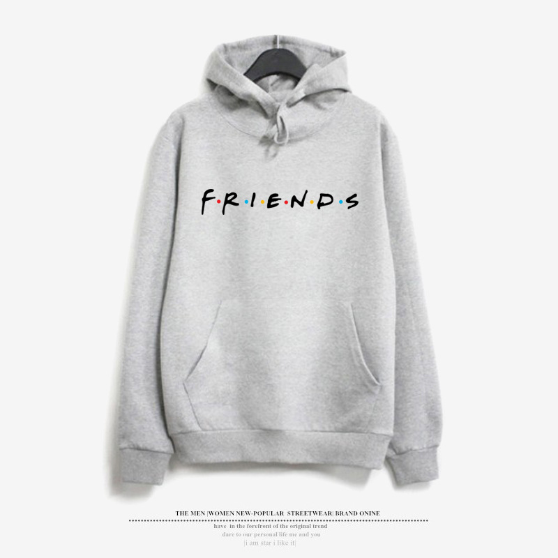 Friends Tv Shows hoodies Sweatshirt women Harajuku print tops hooded pullovers Tumblr Jumper bff streetwear casual Tracksuit