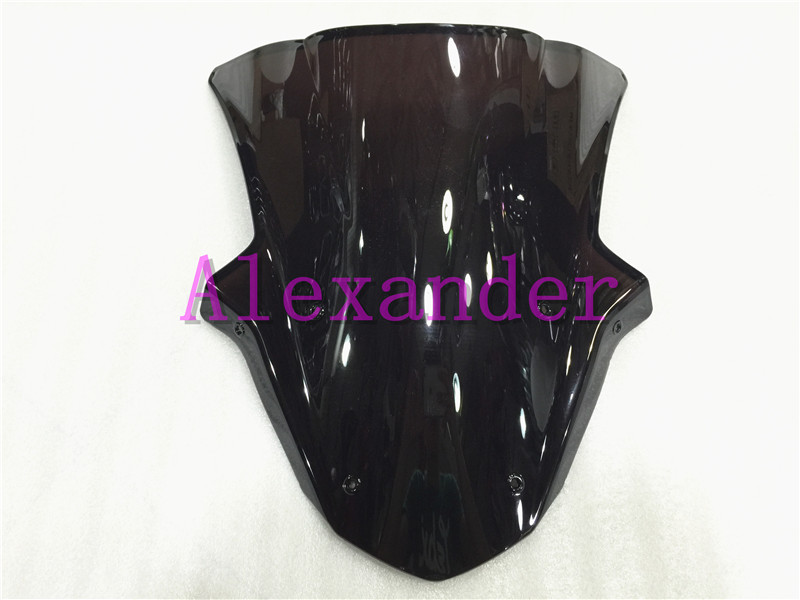 HotSale For Kawasaki ZX10R ZX 10R zx10r 2011 2012 2013 2014 2015 11 12 13 14 15 Black Windshield WindScreen Double Bubble