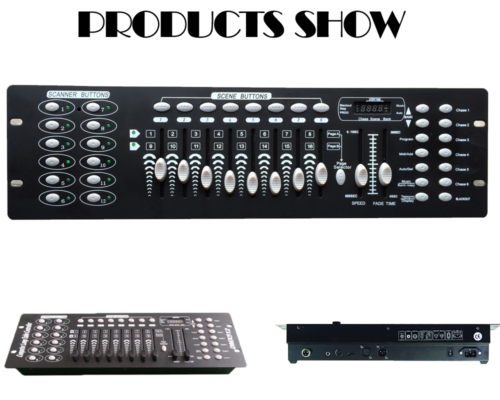 Free shipping NEW 192 DMX Controller Stage Lighting DJ equipment DMX Console for LED Par Moving Head Spotlights DJ Controller new 240 dmx controller stage lighting dj equipment dmx console for led par moving head spotlights dj free shipping shehds