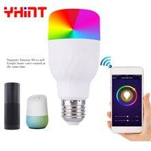 voice control smart rgbw 1600 million bulb work with alexa echol google home led lights E27 7w WIFI for smarthome lighting
