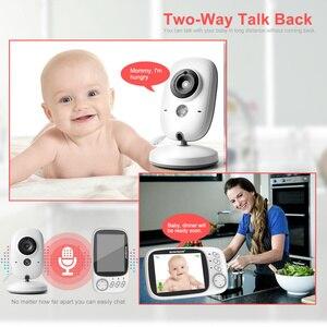 Image 2 - VB603 Video bebek izleme monitörü 2.4G kablosuz 3.2 inç LCD 2 yönlü ses konuşma gece görüş gözetim güvenlik kamera bebek bakıcısı