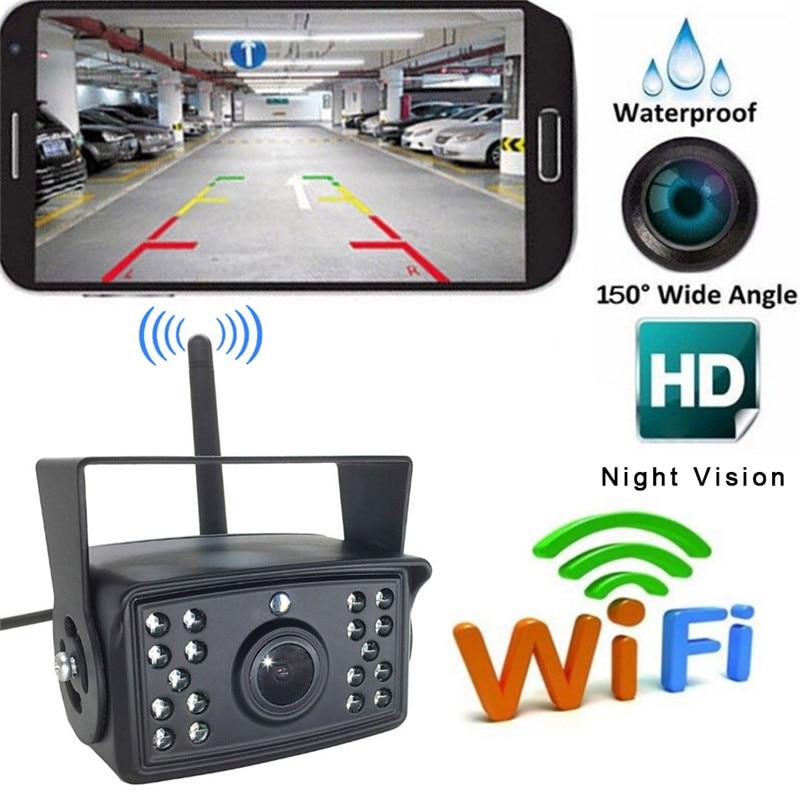 HD Wifi реверсивная камера Dash Cam Star ночного видения Автомобильная камера заднего вида