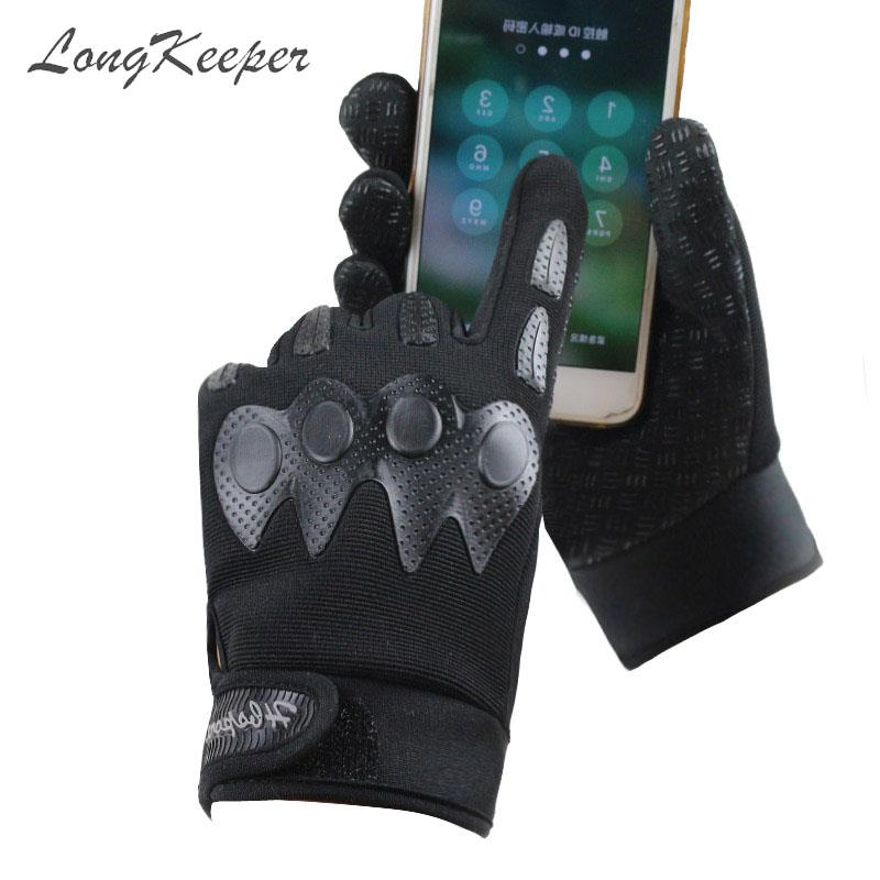 LongKeeper Tactical Gloves Men Full Fingers Black Army Green Guantes Women Outdoors Combat Non-slip Camo Luvas