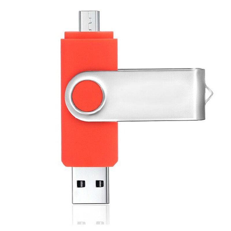 Высокая скорость Красочные Поворотный OTG Android смартфон 32 ГБ USB флэш 16 ГБ накопитель 8 ГБ интерфейсом USB диск памяти