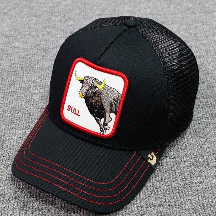 2019 High Quality Summer   Baseball     Cap   Men Women Animals Hat Cock Bull Tiger Lion Bee Mesh   Cap   Snapback Dad Hat