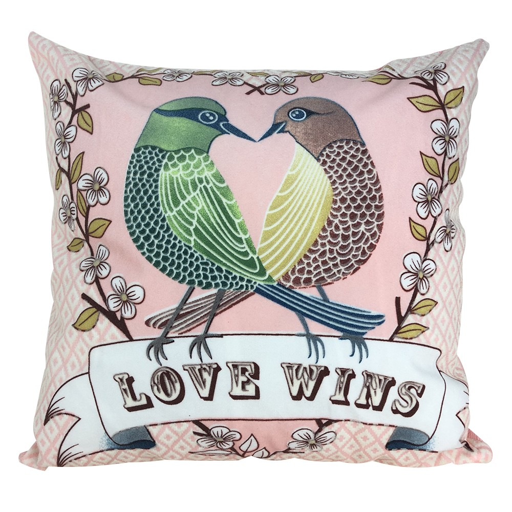 Quneed 3D Printing Bird Crab Back Pillow Case for Home Bar Shop Decorative Creative Pattern Square Pillow Cover 45*45 New