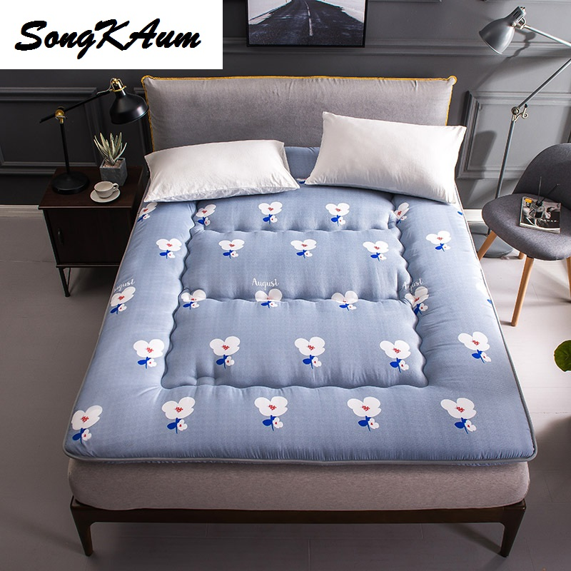 Printing Thickening Polyester Fibre Tatami Student Dormitory Single mattress Foldable Mattress Single Hostel  Bedspread Bed Pad