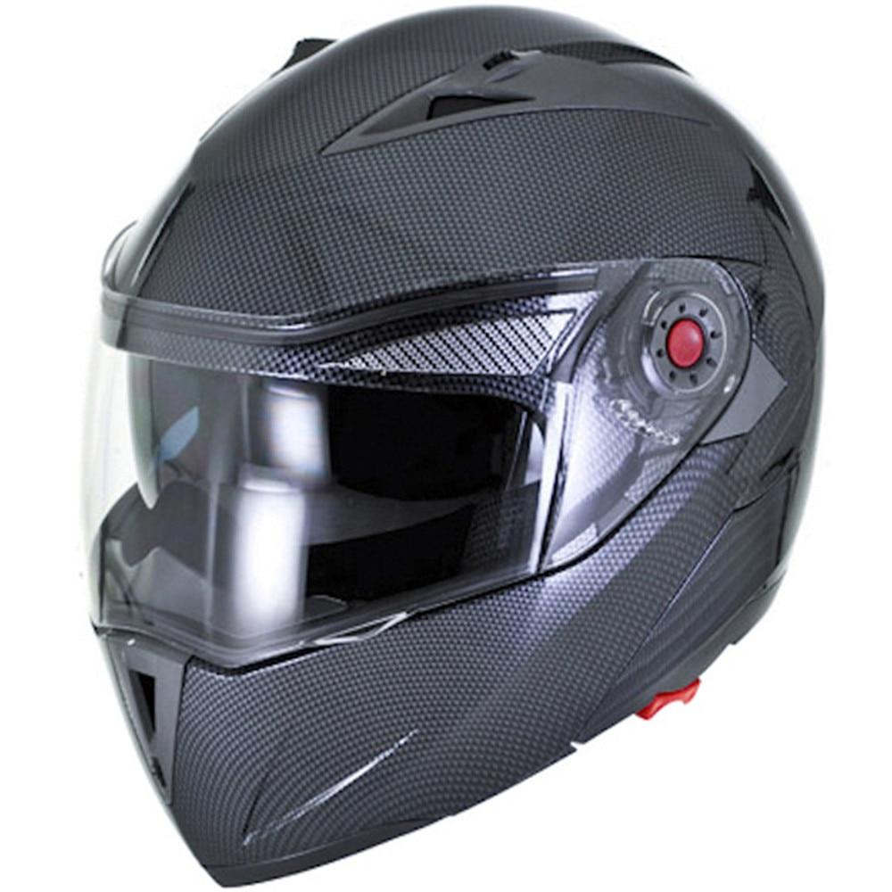 9dfd9e618fb1b Ilm motocicleta casco aprobado por el dot cascos de fibra de carbono con  doble visera casco de la moto de carreras de seguridad párr moto capacete  de moto ...
