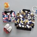 Nova primavera Meninos casuais Algodão esportes Camuflagem das Crianças Jaquetas com zíper Cardigan Casacos Outwear Y2070