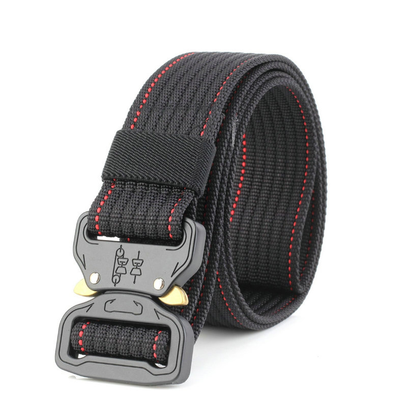 Apparel Accessories Popular Brand New Cobra Buckle Tactical Belt 3.5cm High Quality Nylon 120cm Casual Canvas Belt For Men And Women Military Training Belt B3e2 Easy To Use