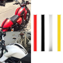 1PCs DIY Fuel Tank Sticker Waterproof for Racing Motorcycle Accessories Funny Decoration Striped Sticker Moto Decals 50*4.5CM(China)