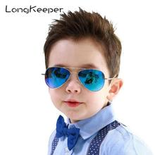 LongKeeper Fashion Baby Girls Kids Sunglasses Piolt Style Brand Design Children Sun Glasses UV400 Protection Oculos De Sol Gafas